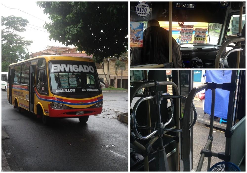 The Envigado bus from and to Poblado