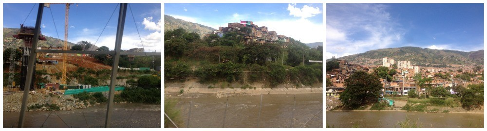 The Medellin river is unfortunately very dirty