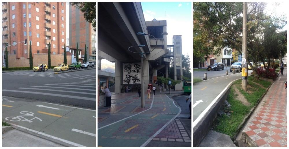 The bike path in Estadio, Medellin