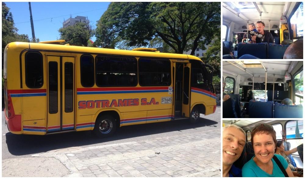 The bus to El Poblado - Envigado