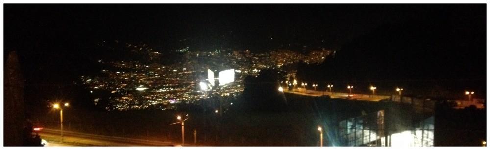 The city lights of Medellin
