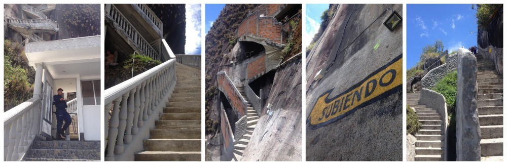 The climb up of El Peñol