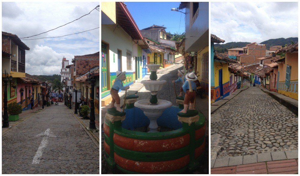 The cobbled streets of Guatape