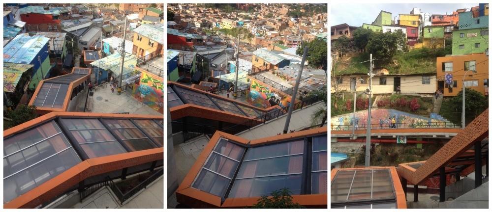 The escalators in Medellin