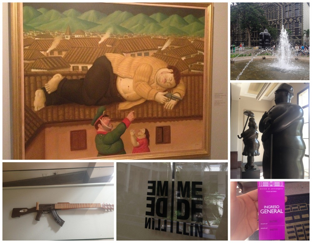 The famous Botero painting of Pablo Escobar shot on the roof top