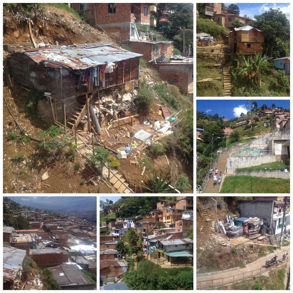 The very poor area of Medellin