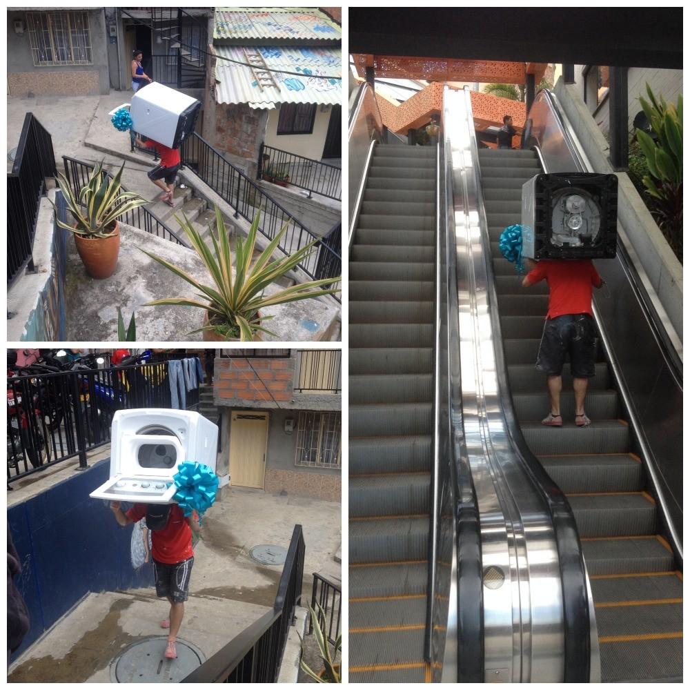 Transporting a washing machine