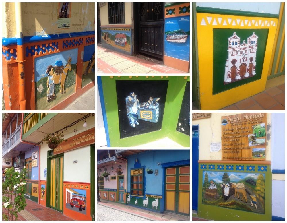 Wall art in Guatape pueblo