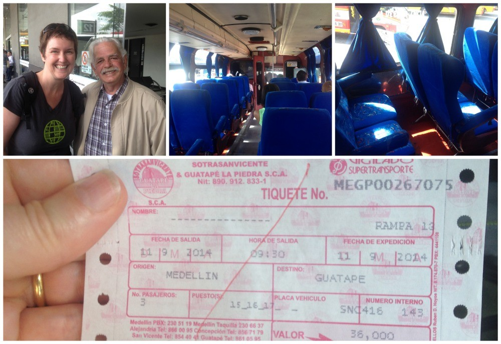 We caught the right bus with some help from a very kind Colombian