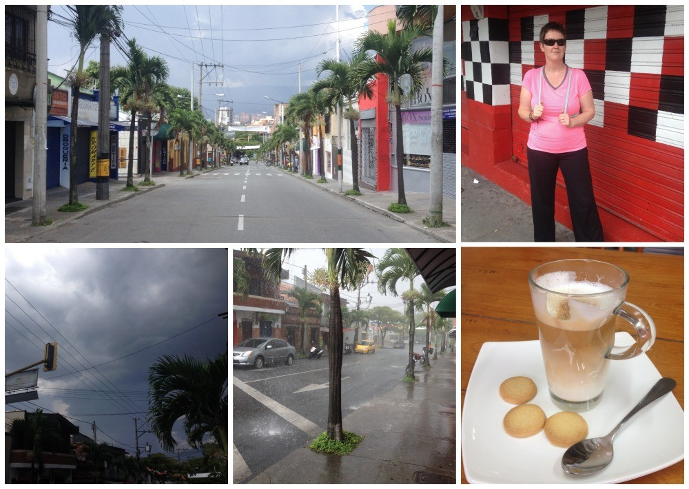 Envigado on Sunday before a storm