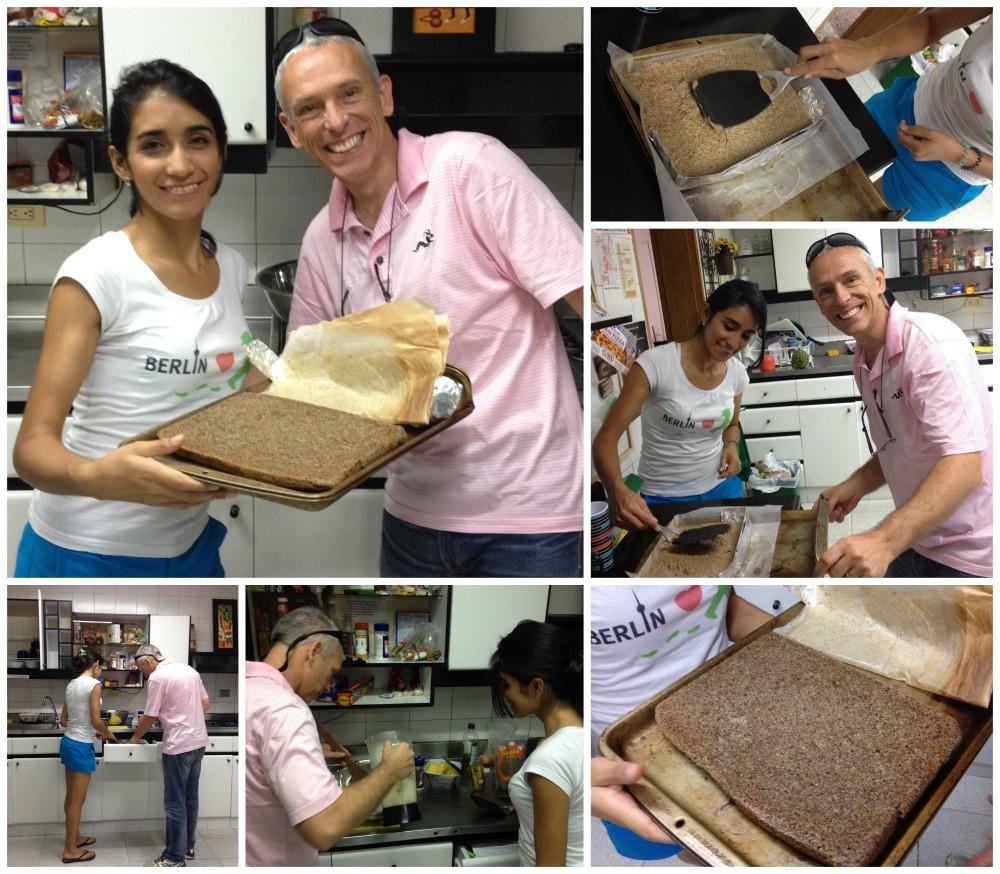 Making gluten free bread in Estadio in Medellin Collage