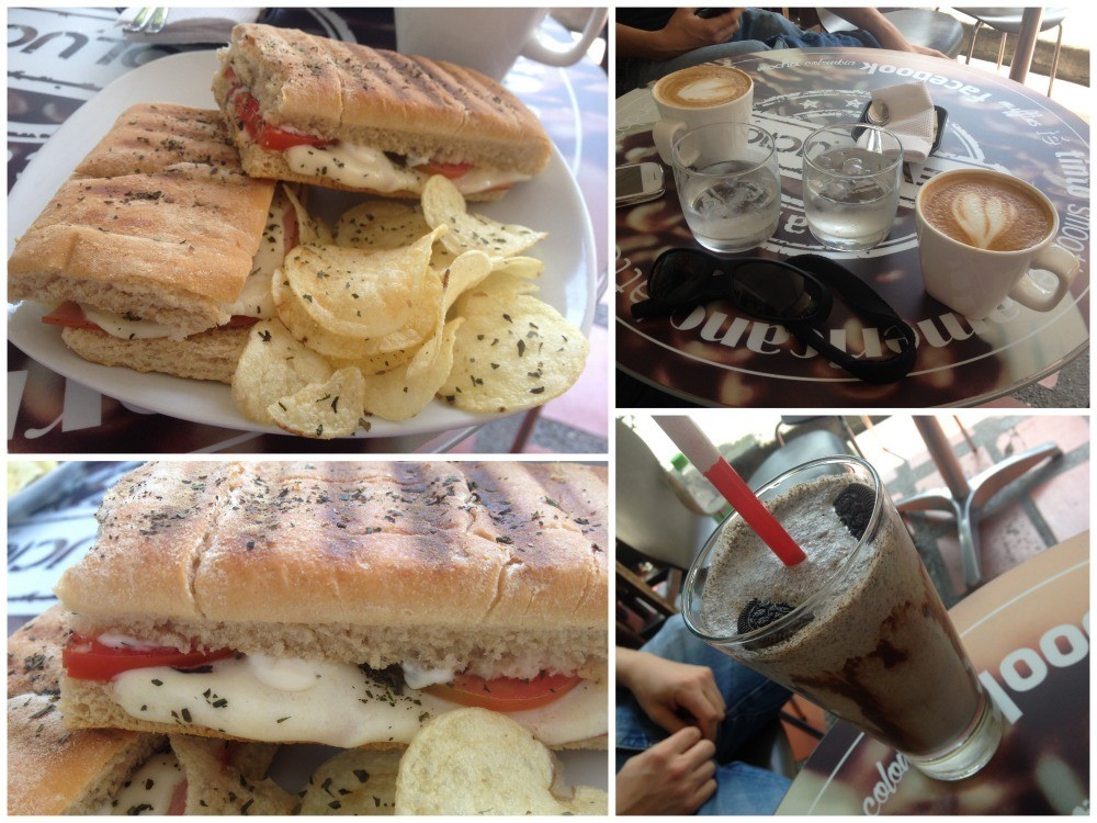 Panini and coffee at Cafe Revolucion in Medellin