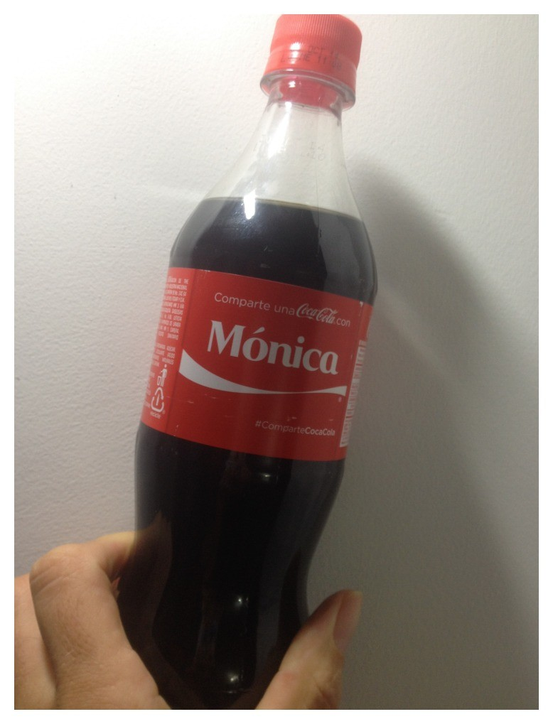 Coke bottle with your name on
