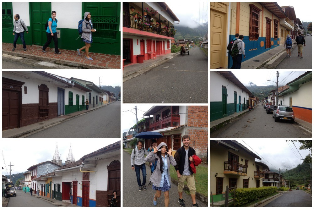 The walk to the Hostel