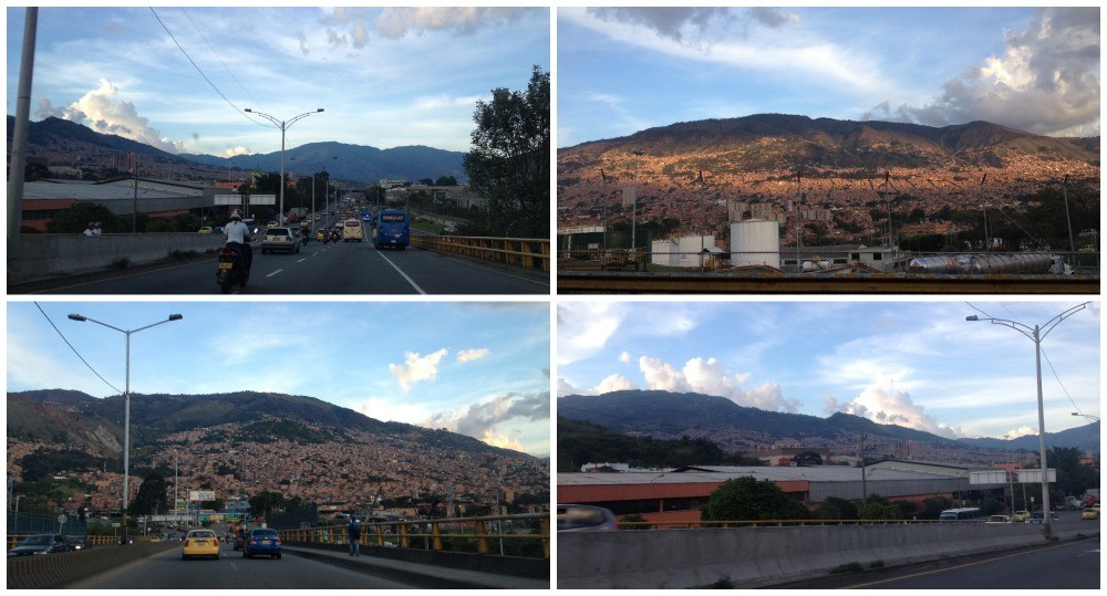 Driving out of Medellin