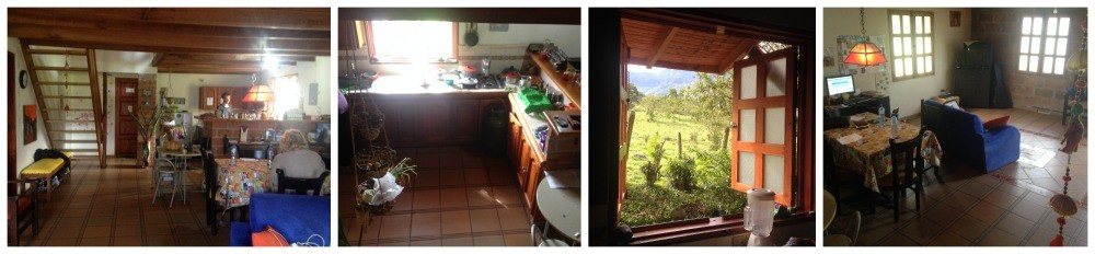 Entrance, ground floor & kitchen at Hostal Selva & Cafe in Jardin