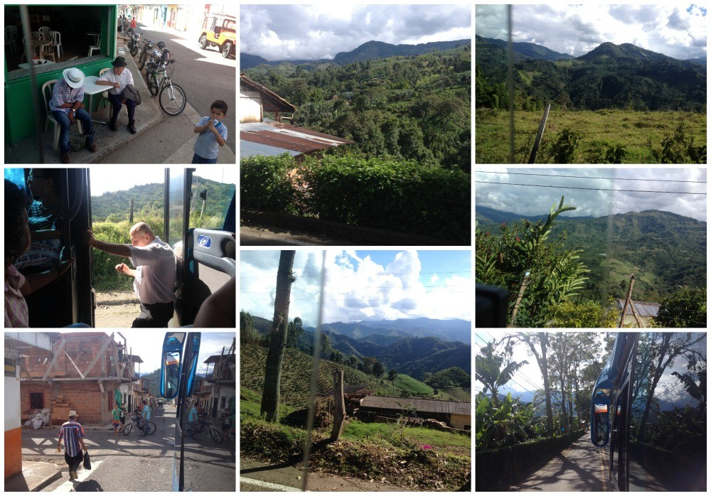 Leaving Jardin and traveling towards Andes then to Medellin