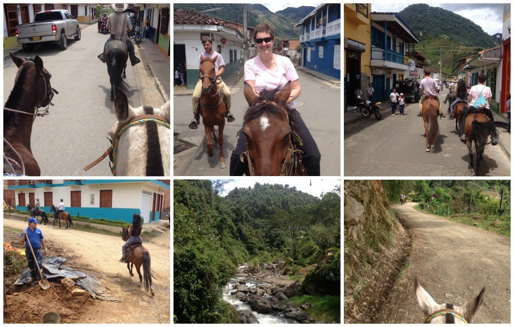 Riding through town and then on natural paths