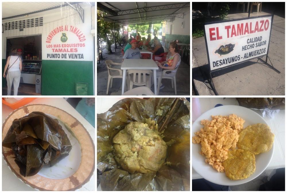 Tamales for breakfast in Mariquita