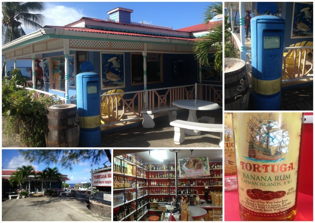 A blue Royal Mail post box on Cayman Island