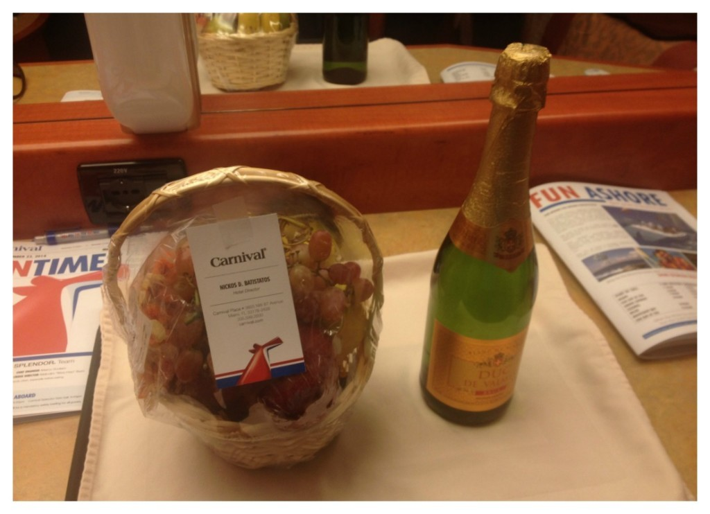 A welcome back gift from the Hotel Director
