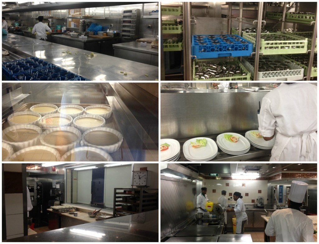 Action shots from the Galley on Celebrity Infinity