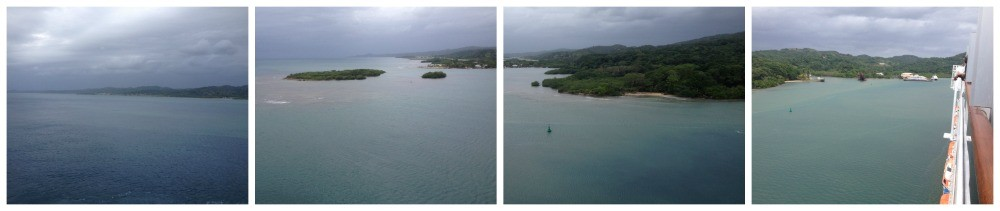 Arriving in Mahogany Bay, Roatan, Honduras
