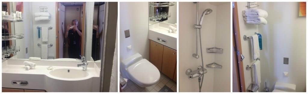 Bathroom on Celebrity Infinity cabin #7084