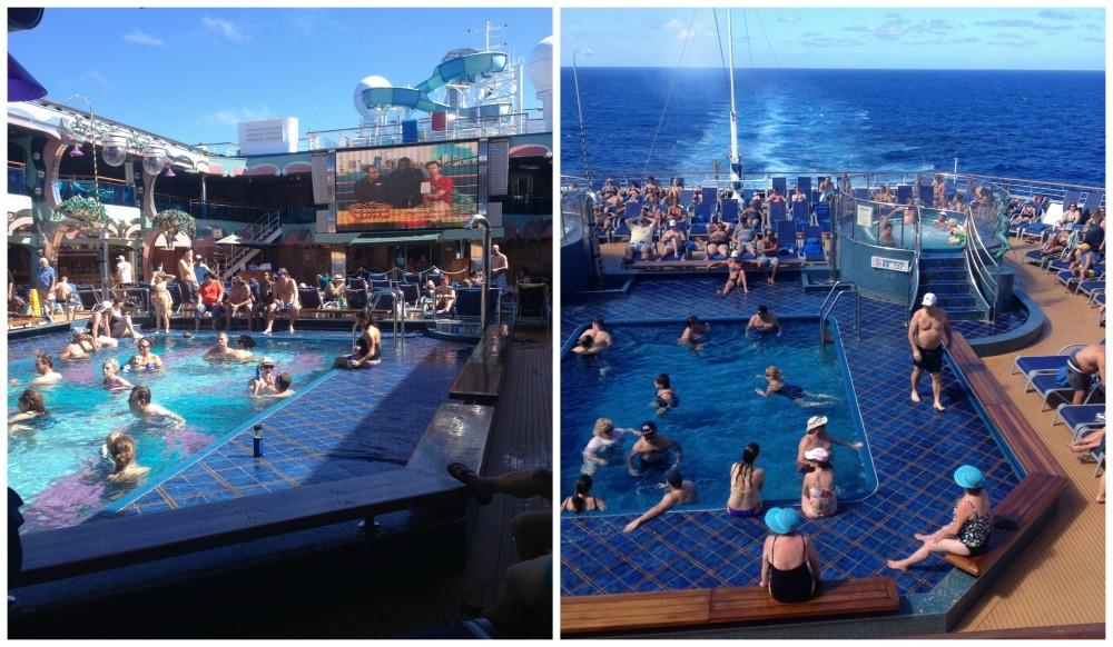 Busy Lido & Aft pool on Carnival Splendor