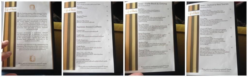 Café al Bacio menu