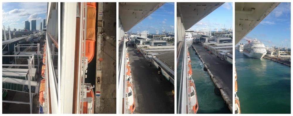 Carnival Splendor eases away from the dock