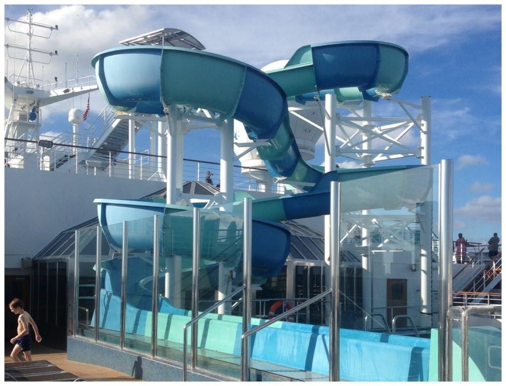 Carnival Splendor water slide