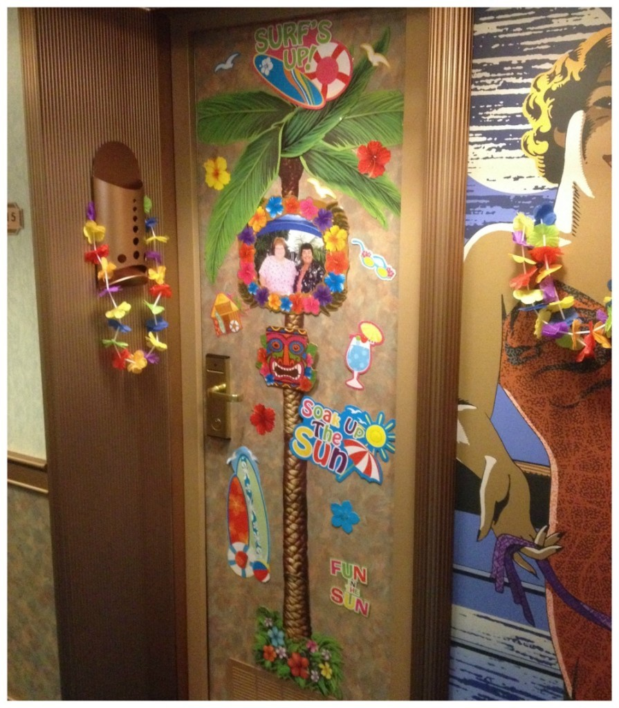 Decorated door on Carnival Splendor