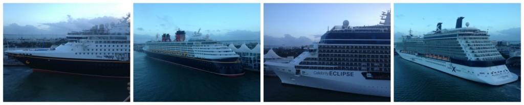 Disney & Celebrity cruise ships