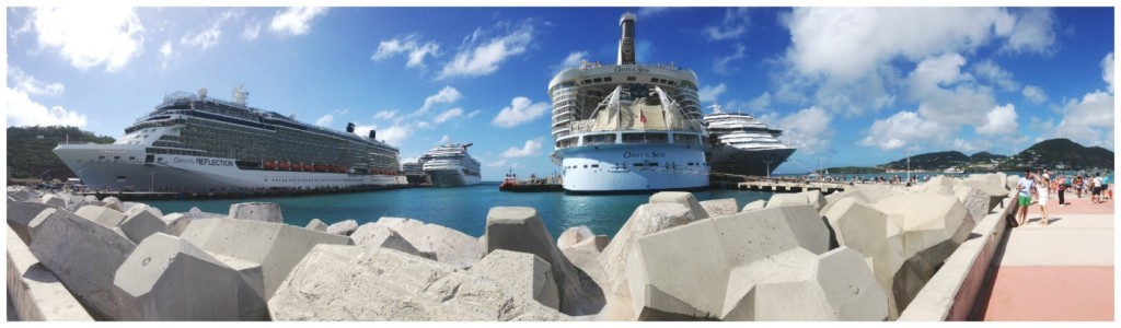 Five ships visiting St Maarten