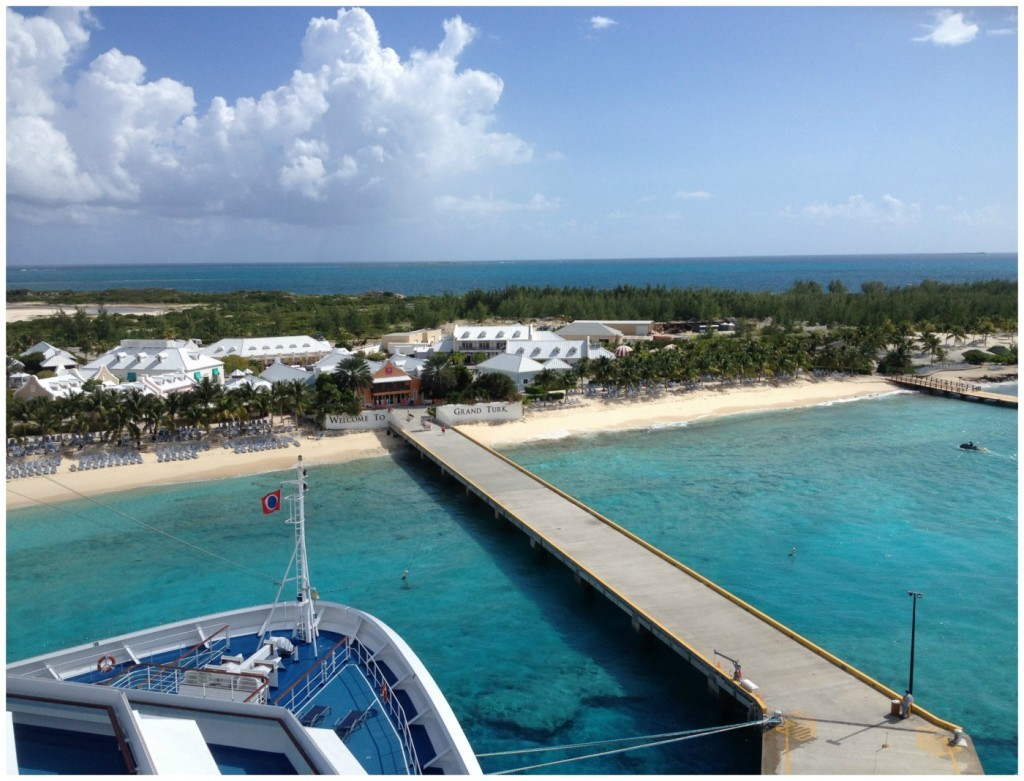Grand Turk from the front of the ship