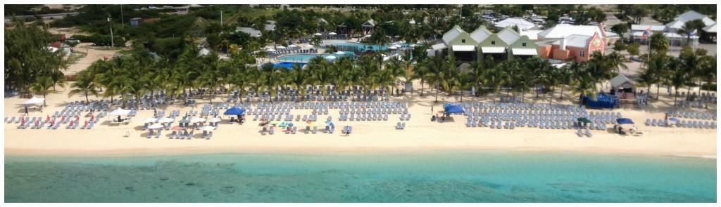 Deck chairs at Grand Turk beach