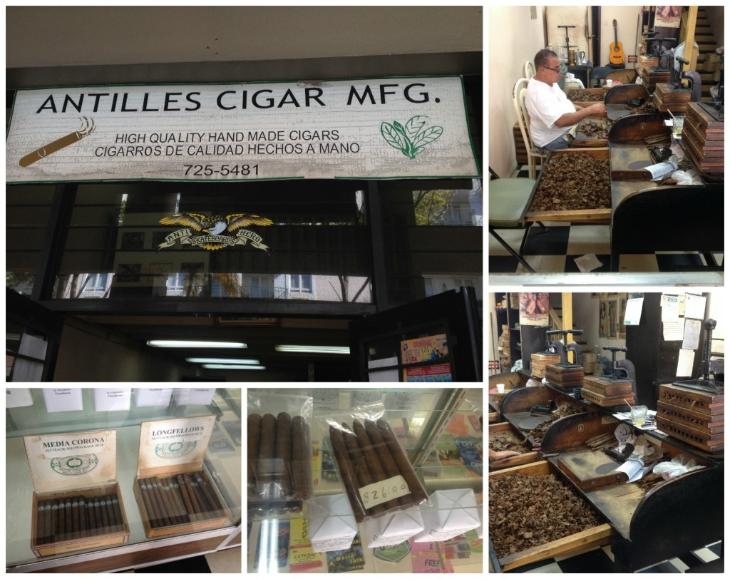 Hand made cigars being made in San Juan