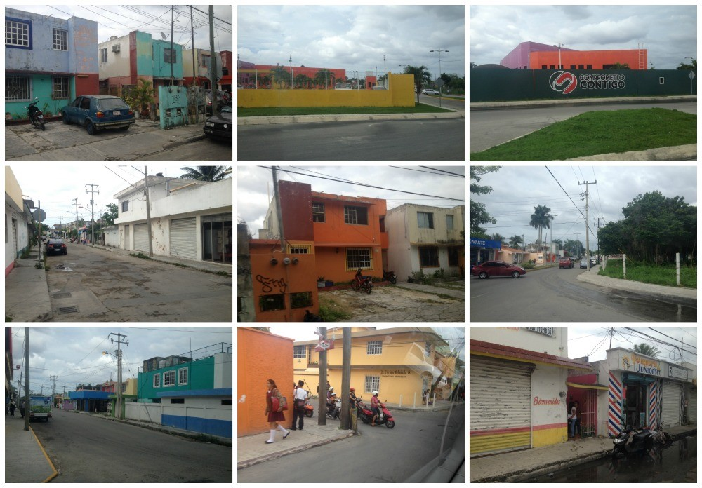 Images from our drive through part of town