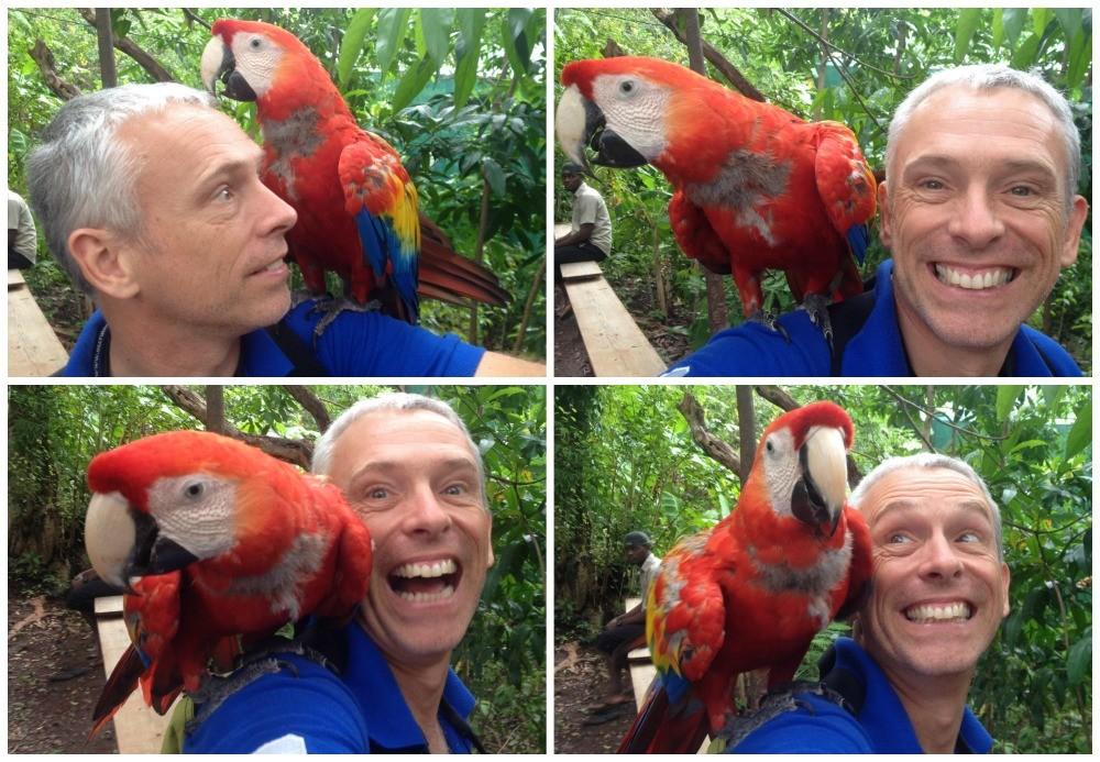 Jonh & a Macaw