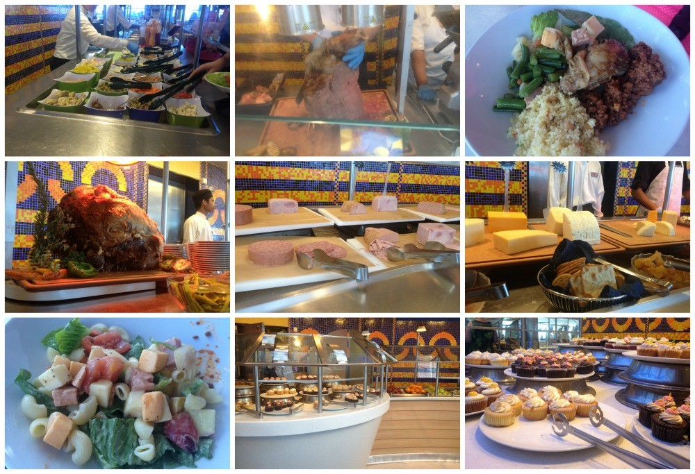 Lunch from the Oceanview cafe buffet