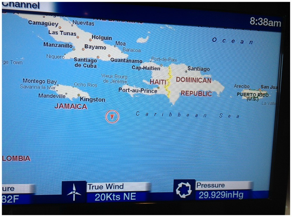 Map Channel on tv in the Caribbean Sea