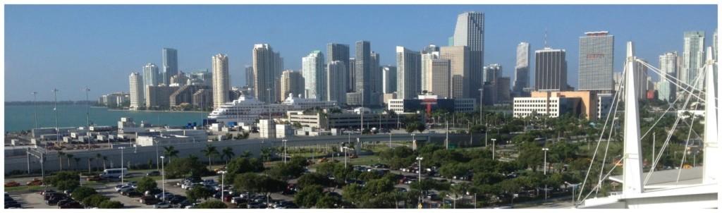 Miami skyline from our balcony