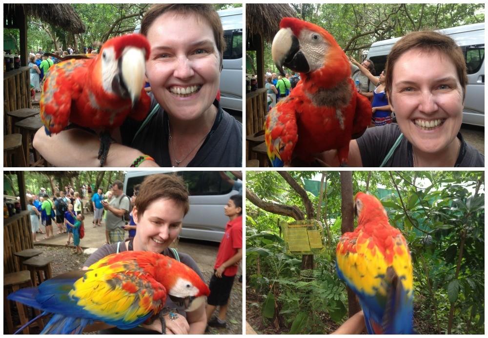 Moni & a Macaw