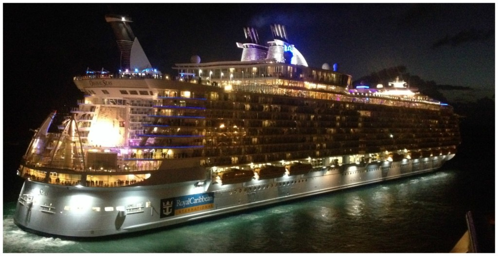 Oasis of the Seas at night