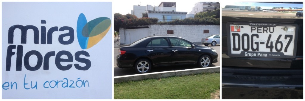 Our tour car around Lima