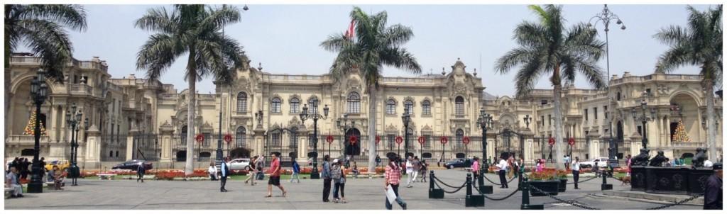Palace at Plaza Mayor in Lima