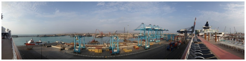 Panorama from the ship to Lima Callao