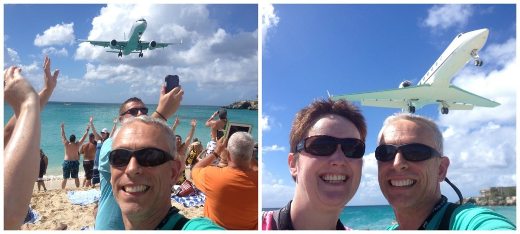 Planes landing in Saint Martin