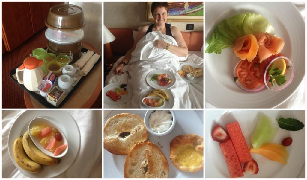 Room service breakfast on Carnival Splendor